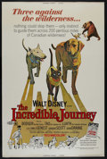 "Movie Posters:Adventure, The Incredible Journey (Buena Vista, R-1974). Poster (40"" X 60"").Family Adventure. Directed by Fletcher Markle. Starring Sy..."