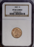 Proof Indian Cents: , 1863 1C PR66 Cameo NGC....