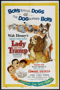 "Movie Posters:Children's, Lady and the Tramp/Almost Angels Combo (Buena Vista, R-1962). OneSheet (27"" X 41""). Family. Directed by Steve Pervin, Clyde..."