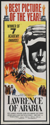 "Lawrence of Arabia (Columbia, 1962). Insert (14"" X 36""). Academy Award Poster. War. Directed by David Lean. St..."