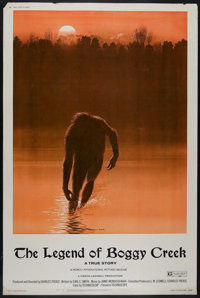 "The Legend of Boggy Creek (Howco, 1973). Poster (40"" X 60""). Docudrama. Directed by Charles B. Pierce. Starrin..."