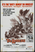 "Movie Posters:War, The Losers (Fanfare, 1970). One Sheet (27"" X 41""). Action Thriller.Directed by Jack Starrett. Starring William Smith, Berni..."