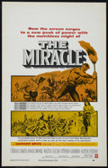 "Movie Posters:Drama, The Miracle (Warner Brothers, 1959). Window Card (14"" X 22""). Drama. Directed by Irving Rapper. Starring Carroll Baker, Roge..."
