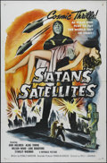 """Movie Posters:Science Fiction, Satan's Satellites (Republic, R-1958). One Sheet (27"""" X 41"""").Science Fiction. Directed by Fred C Brannon. Starring Stanley ..."""