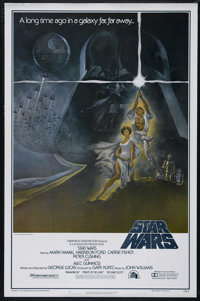"Star Wars (20th Century Fox, 1977). One Sheet (27"" X 41""). Style A. Sci-Fi Adventure. Directed by George Lucas..."