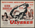 "Movie Posters:Adventure, Ulysses (Paramount, R-1960). Half Sheet (22"" X 28""). FantasyAdventure. Directed by Mario Camerini. Starring Kirk Douglas, S..."