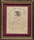 Miscellaneous:Other, Civil War Discharge Paper.. ... (Total: 2 items)