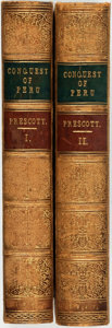 Books:World History, William H. Prescott. History of the Conquest of Peru, with aPreliminary View of the Civilization of the Incas. Lond...(Total: 2 Items)