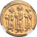 Ancients:Byzantine, Ancients: Heraclius (AD 610-641), with Heraclius Constantine and Heraclonas. AV solidus (4.40 gm). ...