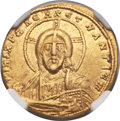 Ancients:Byzantine, Ancients: Constantine VII Porphyrogenitus (AD 913-959), withRomanus II (AD 945-963). AV solidus (20mm, 4.33 gm, 6h)....