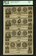 Obsoletes By State:Ohio, Franklin, OH- Franklin Silk Company $5-$5-$5-$10 Wolka 1124-07Uncut Sheet. ...