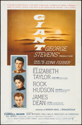 "Movie Posters:Drama, Giant (Warner Brothers, 1956). One Sheet (27"" X 41""). Drama.. ..."