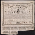 Confederate Notes:Group Lots, Ball 241 Cr. 122 $1000 Bond 1863 Very Fine.. ...