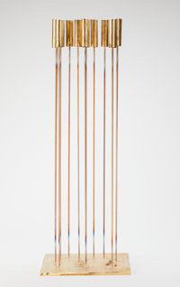 Val Bertoia (American, b. 1949) Sounds Abreast (B-1842), 2015 15 brass cat-tails silvered to berylli