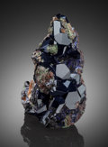 Minerals:Miniature, Azurite. Easter Pocket, 1994, 8th Level, Tsumeb Mine, Tsumeb,Otjikoto Region, Namibia. ...