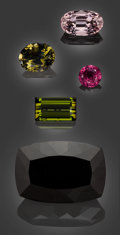 Gems:Faceted, Gemstone Parcel: Tourmaline - 92.77 TCW. ... (Total: 5 Items)