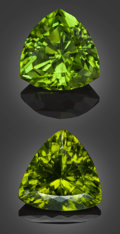 Gems:Faceted, Gemstone Parcel: Peridot - 19.57 TCW. . ... (Total: 2 Items)