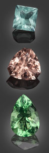 Gems:Faceted, Rare Gemstone Parcel: Fluorites - 86.7 TCW. . ... (Total: 3 Items)