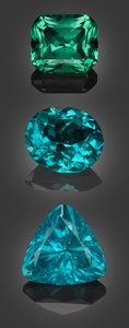 Gems:Faceted, Gemstone Parcel: Apatite from Madagascar - 20.39 TCW. Itrongay,Mahasoa East Commune, Betroka District, Anosy Region, Tul...(Total: 3 Items)