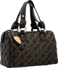 Louis Vuitton Limited Edition Sequin & Classic Monogram Canvas Eclipse Speedy 30 Bag Very Good Condition