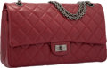 Luxury Accessories:Bags, Chanel Red Quilted Distressed Leather Reissue Medium Double FlapBag with Gunmetal Hardware. Excellent to Pristine Conditi...