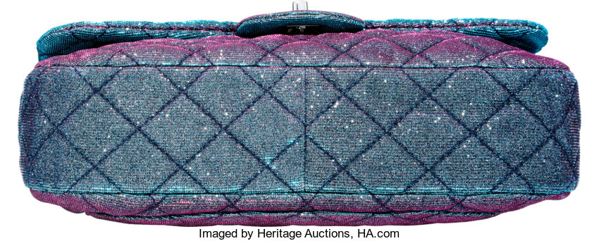 08998a3b09e231 Chanel Blue & Pink Iridescent Canvas East West Flap Bag | Lot #58307 |  Heritage Auctions