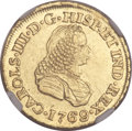 Colombia, Colombia: Charles III gold 2 Escudos 1769 PN-J MS61 NGC,...