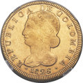 Colombia, Colombia: Republic gold 8 Escudos 1826 POPAYAN-FM XF40 NGC,...