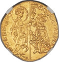Italy:Venice, Italy: Venice. Andrea Contarini (1368-82) gold Ducat ND UNC Details(Scratches) NGC,...