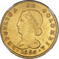 Colombia, Colombia: Republic gold 8 Escudos 1826 BOGOTA-JF AU Details(Surface Hairlines) NGC,...