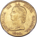 Colombia, Colombia: Republic gold 16 Pesos 1840 B-RS AU50 NGC,...