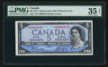 Canadian Currency: , BC-31bA $5 1954 Devil's Face Replacement Note . ...