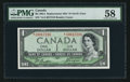 Canadian Currency: , BC-29bA $1 1954 Devil's Face Replacement Note. ...