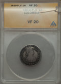 Colombia, Colombia: Ferdinand VII Real 1810 P-JF VF20 ANACS,...