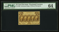 Fr. 1280 25¢ First Issue PMG Choice Uncirculated 64