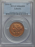 Liberia, Liberia: Republic Cent 1896-H MS64 Red and Brown PCGS,...