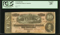 Confederate Notes:1864 Issues, T68 $10 1864 PF-53 Cr. UNL.. ...