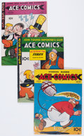 Golden Age (1938-1955):Miscellaneous, Ace Comics #42, 62, and 102 Group (David McKay Publications, 1940-45).... (Total: 3 Comic Books)