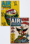 Golden Age (1938-1955):War, Air Fighters Comics #5 and V2#8 Group (Hillman Fall, 1943-44)....(Total: 2 Comic Books)