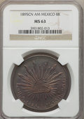 Mexico, Mexico: Republic 8 Reales 1895 Cn-AM MS63 NGC,...