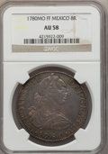 Mexico, Mexico: Charles III 8 Reales 1780 Mo-FF AU58 NGC,...