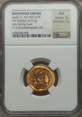 Ancients:Byzantine, Ancients: Justin II (AD 565-578). AV solidus (4.51 gm)....