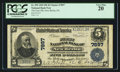 National Bank Notes:Pennsylvania, New Berlin, PA - $5 1902 Plain Back Fr. 599 The First NB Ch. #7897. ...