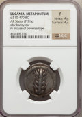 Ancients:Greek, Ancients: LUCANIA. Metapontum. Ca. 510-470 BC. AR stater (7.71gm)....