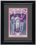 Baseball Collectibles:Others, Brock, Yaz and Rose Signed Photograph....