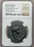 Ancients:Roman Imperial, Ancients: Nero (AD 54-68). Orichalcum sestertius (26.55 gm)....