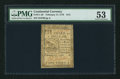 Colonial Notes:Continental Congress Issues, Continental Currency February 17, 1776 $1/3 PMG About Uncirculated 53.. ...