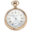 Timepieces:Pocket (post 1900), Hampden 19 Jewels Fancy Dial Pocket Watch. ...