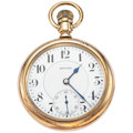 Timepieces:Pocket (post 1900), E. Howard 19 Jewel Open Face Pocket Watch. ...