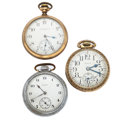 Timepieces:Pocket (post 1900), Three Elgin Open Face Pocket Watches. ... (Total: 3 Items)